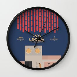 Mon Oncle - Jacques Tati Movie Poster, classic French movie, old film, Cinéma français, fun, humor Wall Clock