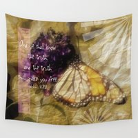verse Wall Tapestries featuring Truth - Verse by Anita Faye