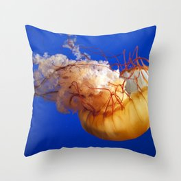 just another day being orange Throw Pillow