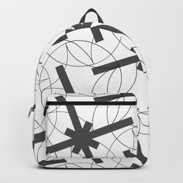 Seamless Geometric Black and White Abstract Pattern Backpack
