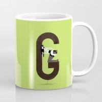 gemma Mugs featuring Gemma & Targa by ChicksAndType