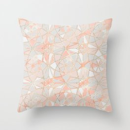 Pattern Rose Triangle Throw Pillow