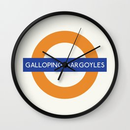 Galloping gargoyles   TFL Wall Clock