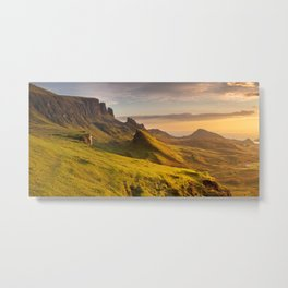 III - Sunrise at Quiraing, Isle of Skye, Scotland Metal Print