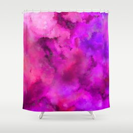Abstract Pour Art - Pink and Purple Shower Curtain