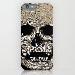 Full Skull With Rotting Flesh Vector iPhone Case