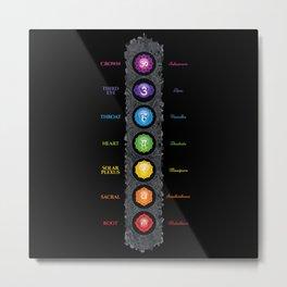 Seven Chakra Symbols & Names #40 Metal Print