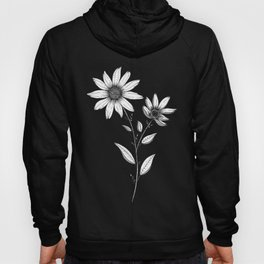 Wildflower line drawing | Botanical Art Hoody