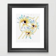 Ruptured Sun Framed Art Print