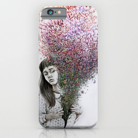 I tried to draw my soul but all I could think of was flowers iPhone & iPod Case