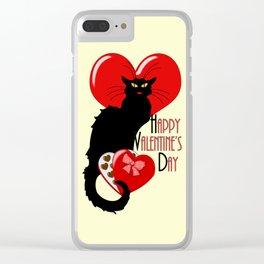 Le Chat Noir with Chocolate Candy Gift Clear iPhone Case