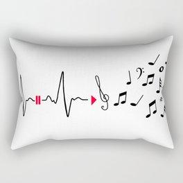 Musical pulse Rectangular Pillow