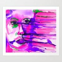 diffused face Art Print