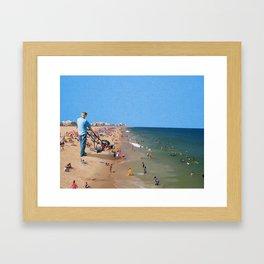 Beach Mower Framed Art Print