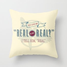 Read or Not Real Throw Pillow