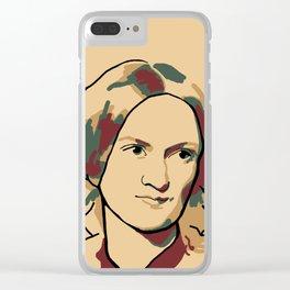 Charlotte Brontë Clear iPhone Case