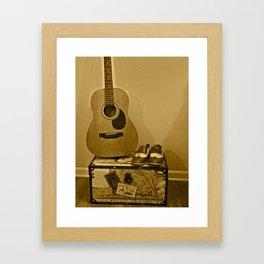 Traveling Musician  Framed Art Print