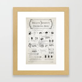 Beer Benefits Framed Art Print