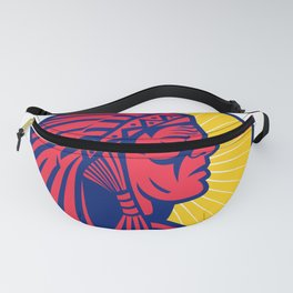 Old Native American Chief Headdress Circle Fanny Pack