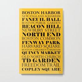 Boston Landmarks Sports Metal Print