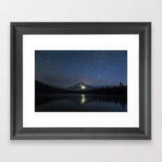 Lights on Mount Hood Framed Art Print