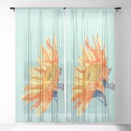 Sunflower Daze Sheer Curtain