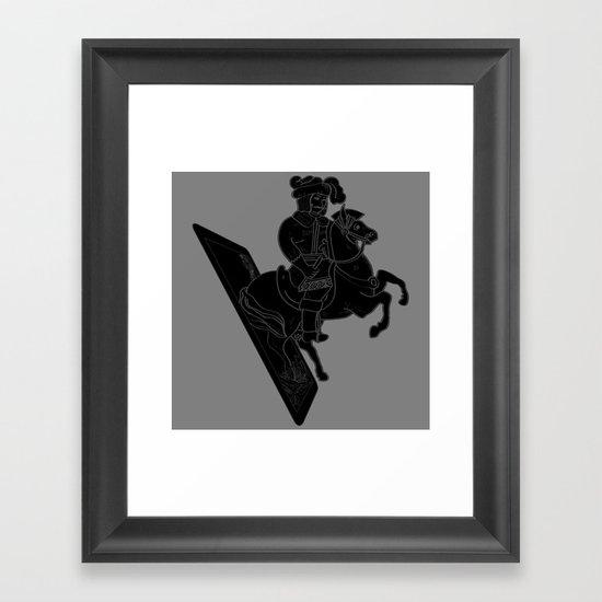 LAST CARD IN THE DECK BLACK Framed Art Print