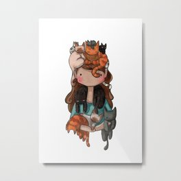 Cat Queen Metal Print