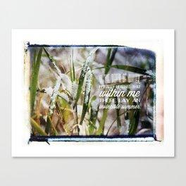 Invincible Summer. Canvas Print