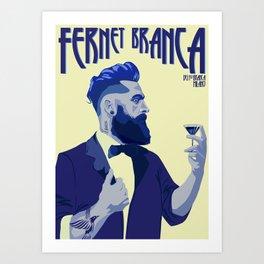 Fernet Branca Blue Art Print