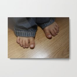 Bare Footed Metal Print