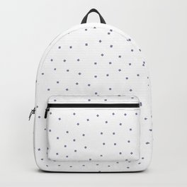Simple Christmas seamless pattern Pastel Purple Confetti on White Background Backpack