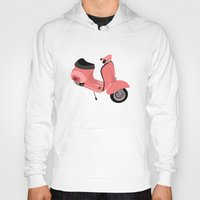 vespa Hoodies featuring Vespa by Fabian Bross