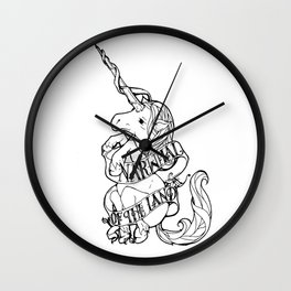 Narwhal of the Land Wall Clock