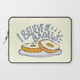 I Believe in Bagels Laptop Sleeve