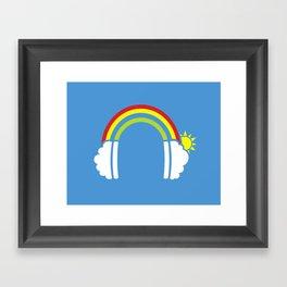 Rainbowphones Framed Art Print