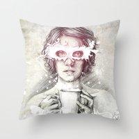 milk Throw Pillows featuring Milk by Anna Sun