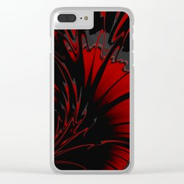 RAIGN red and black abstract Clear iPhone Case