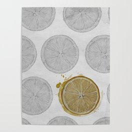 pattern of oranges Poster