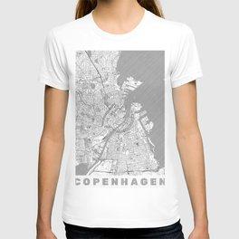 Copenhagen Map Line T-shirt
