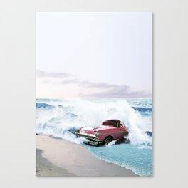 Pink Vintage Car Canvas Print