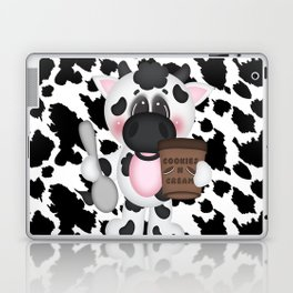 Cow Eating Ice Cream Laptop & iPad Skin