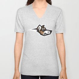 Fighting Corgis Logo Unisex V-Neck