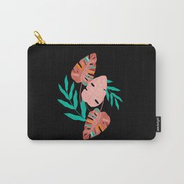Pink jungle monstera Carry-All Pouch