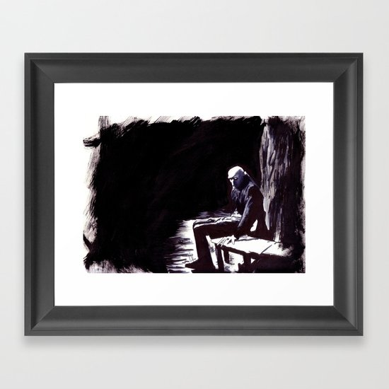 The Great Death of Wisborg Framed Art Print