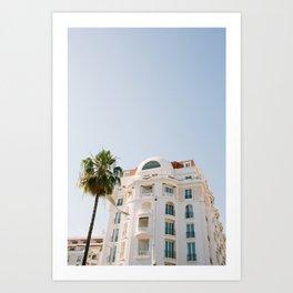 Cannes Palm Art Print