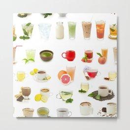 drinks, seamless Metal Print