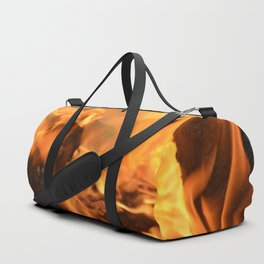 fire in a hollow log Duffle Bag