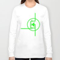 transistor Long Sleeve T-shirts featuring N-TYPE MOSFET by EEShirts