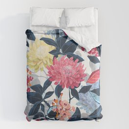 Watercolor Farmhouse Flowers Comforters